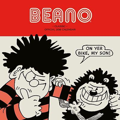 Beano Classic Official 2019 Wall Calendar Square New & Sealed