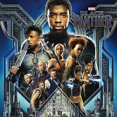 Black Panther Official 2019 Wall Calendar Square New & Sealed