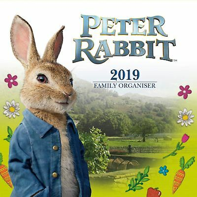 Peter Rabbit Family Organiser Official 2019 Wall Calendar Square New & Sealed
