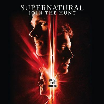 Supernatural Official 2019 Wall Calendar Square New & Sealed