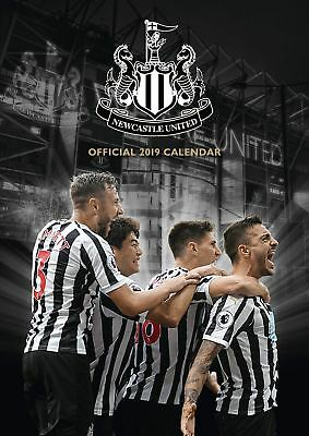 Newcastle United Official 2019 Wall Calendar A3 New & Sealed Utd
