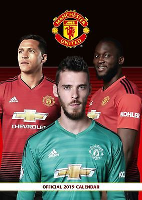 Manchester United Official 2019 Wall Calendar A3 New & Sealed Man Utd