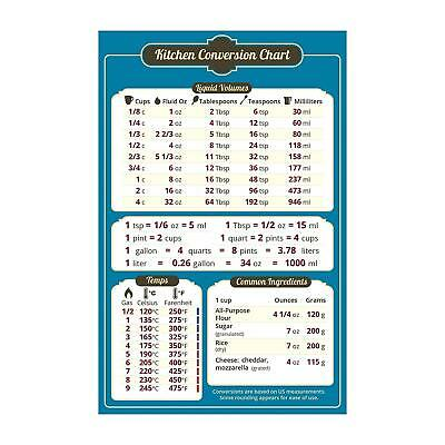 Magnetic Kitchen Conversion Chart Dry Weights Liquid