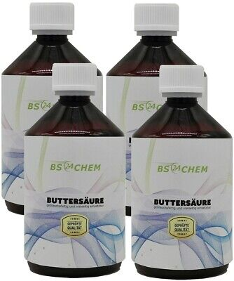 BS24CHEM 1000ml (4x250ml) Buttersäure 99,5 % Marke BS24CHEM Ohne Karbid Carbid