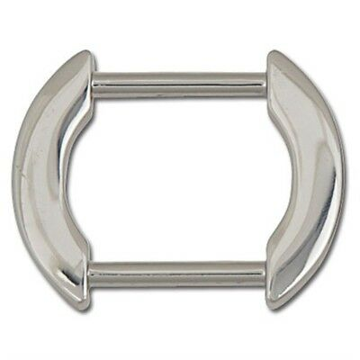 """1"""" Nickel Plated Flat Arch Bag Strap Ring - 1 Purse Attachment Tandy"""