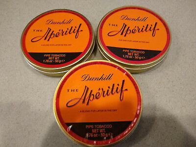 1 Rare Collectible Dunhill The Aperitif Sealed Unopened Pipe Tobacco tin 50 gram