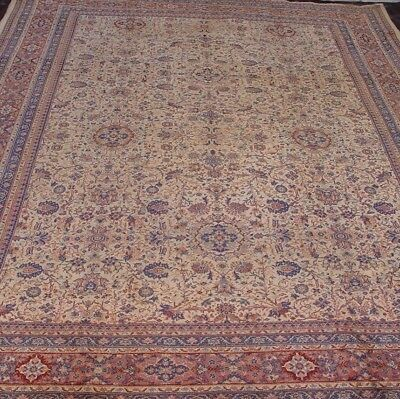 9' X 12'  Antique Hand Made Anatolian Turkish Sivas 100% Wool Oriental Rug