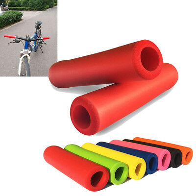 Eg_ 1Pair Bike Silicone Anti-Slip Handlebar Grips Mountain Mtb Bicycle Cycling S