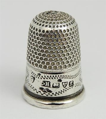 Sweet GEORGE V STERLING SILVER THIMBLE SIZE 9 Chester 1911 Charles Horner