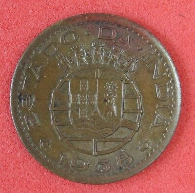 1958 India (Portugal)  10 Centavos Coin Unc Km 30 904