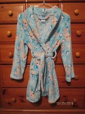 DISNEY Girls Elsa Frozen LS Flame Resistant Fleece Bath Robe Size 10