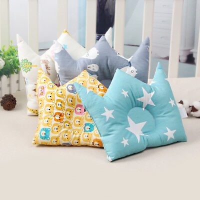 EG_ LC_ Soft Cotton Cartoon Crown Anti-rollover Sleep Shape Pillow Baby Cushion