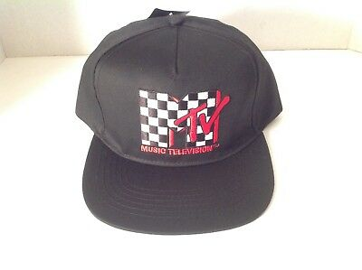 d60d9c5e8be MTV Music Television BLACK BASEBALL HAT CAP One Size Fits All Adjustable NEW