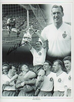 NAT LOFTHOUSE Signed 12x9 Photo ENGLAND & BOLTON WANDERERS Legend  COA