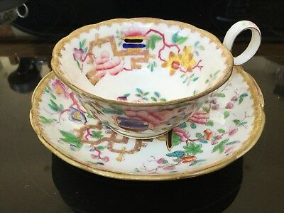 Antique Minton Chinese Tree Cup And Saucer 2067 Pre 1842, Antique Minton Duo