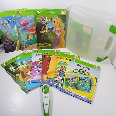 Leap Frog Tag Pen Reading System :  Pen 2 Books Carrying Case