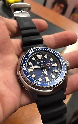 Seiko Sun065 Padi Kinetic Gmt Diver S Watch 200m Rare Discontinued