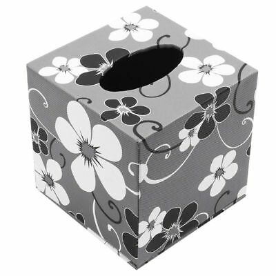 Square Leather Home Room Car Hotel Tissue Box Cover Paper Napkin Holder Cas Y6K3