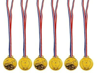 1-48 Children Gold Plastic Winners Medals Sports Day Party Bag Awards Toy SCHOOL