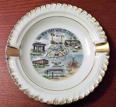 New York World's Fair 1964 -1965 Mini Plate Ashtray