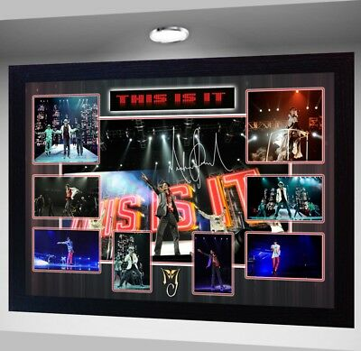 MICHAEL JACKSON This Is It Framed Photo PRINT POSTER Perfect gift