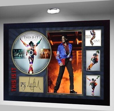 THIS IS IT MICHAEL JACKSON SIGNED FRAMED PHOTO CD Disc Perfect gift #2