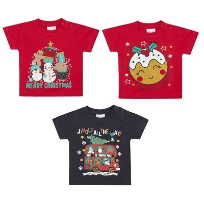 Assorted Babies Christmas T-Shirts (3-24 Months) Christmas T-Shirt (3 Designs)