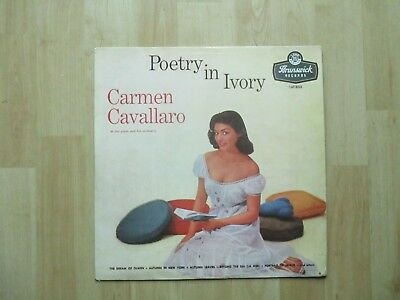 CARMEN CAVALLARO  Vinyl LP Poetry In Ivory (1957, Brunswick)
