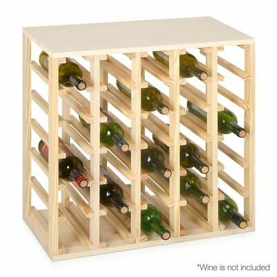 30 Bottle Wine Rack Bottle Storage Holder Wooden Cellar Bar Display Organiser