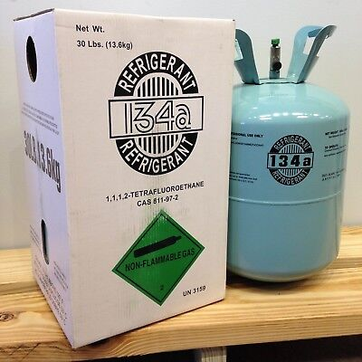 Brand NEW R134a refrigerant in 30 lb disposable tank