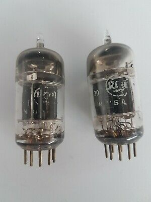 Pair matched RCA JRC 6189 (12AU7) black plate 50s tubes as new
