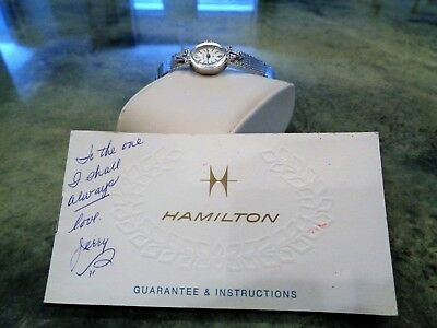 Vintage WWII Ace Pilot Wife's Hamilton 759 Watch Cocktail Watch Genuine Diamonds