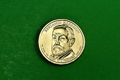 2012-P BU Mint State (BENJAMIN HARRISON) US Presidential One Dollar