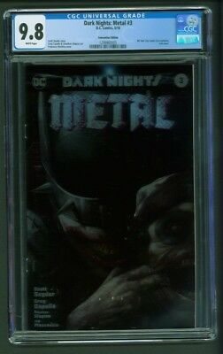 Dark Nights Metal #3  CGC 9.8 Convention Foil Edition Variant Mattina Cover