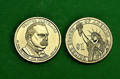 2012-P&D BU Mint State(Grover Cleveland 24th)US Presidential Dollars (2 Coins)
