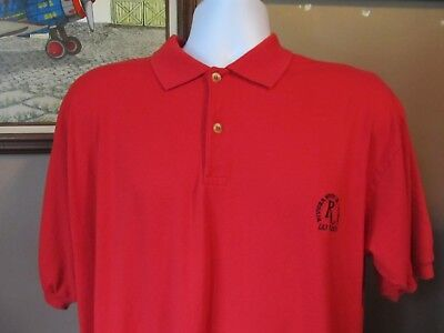 Vintage Riviera Hotel & Casino Las Vegas Red Polo Style Shirt~Size XXL
