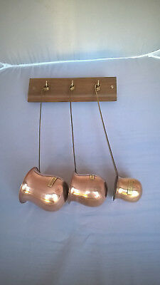 Set of Three Brass and Coppers Spirit Ladle, Whisky, Rum, Brandy