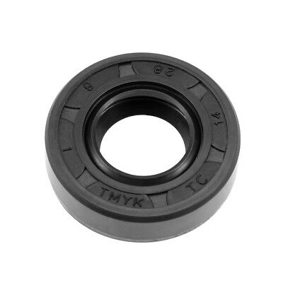 Oil Seal, TC 14mm x 28mm x 8mm, Nitrile Rubber Cover Double Lip