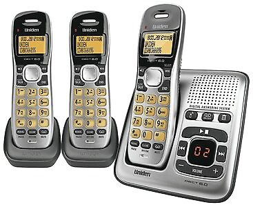 New  Generic Uniden 3 Handset Cordless Telephone with Answering Machine BYT9038