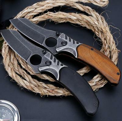 Survival Outdoor Folding Knife Camping Tactical Combat Defense Pocket Army Knife