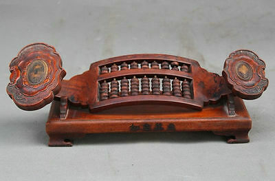 Rare Old China Rosewood wood Hand-Carved Wealth RuYi Ru Yi Calculation Abacus