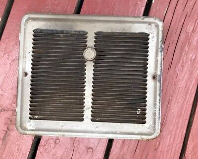 "vintage steel floor/wall heat register vent grate w/luvers 12""x10"""