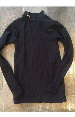 UNDER ARMOUR  MOCK NECK COLD GEAR COMPRESSION SHIRT YOUTH Med Black