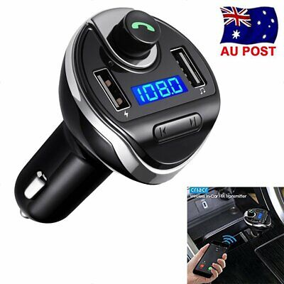Bluetooth FM Transmitter Wireless Radio AUX Adapter Car Kit Dual USB Charge Port