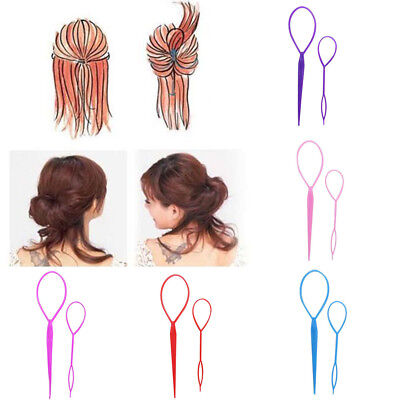 2Pairs Plastic Magic Topsy Tail Hair Braid Ponytail Styling Make Clip Tool