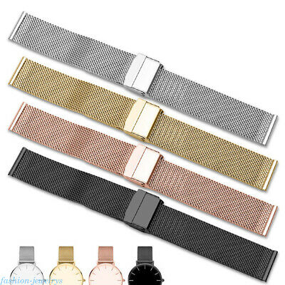1PC Mesh Stainless Steel Milanese Watch Band Link Bracelet Wrist Strap 12-22mm