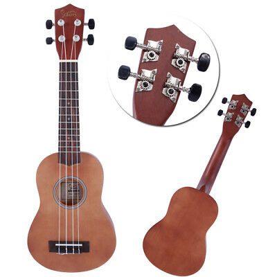 Glarry 21 Inch Natural Beginner Soprano Ukulele with Bag for Kids Students