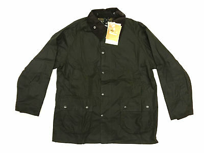 New Mens Barbour Classic Bedale Wax Olive Coat Jacket - Size 42 or 44
