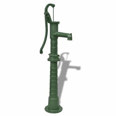 vidaXL Hand Pump w/ Stand Cast Iron Well Water Pitcher Press Yard Pond Garden