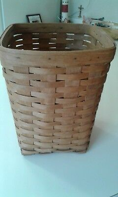 Longaberger 1993 Waste Basket Medium 10 x 12 ..... Last one